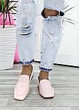 Туфлі мокасини жіночі шкіряні рожеві, фото 5