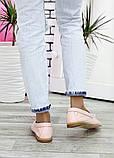 Туфлі мокасини жіночі шкіряні рожеві, фото 6