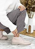 Мокасины туфли женские натуральная кожа бежевые, фото 5