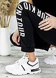 Кросівки жіночі білі шкіряні 7668-28, фото 2