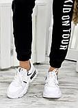 Кросівки жіночі білі шкіряні 7668-28, фото 4