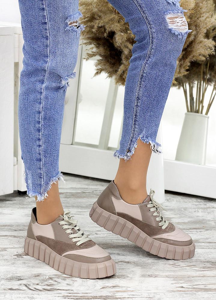 Кросівки жіночі бежеві