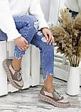 Кросівки жіночі бежеві, фото 3