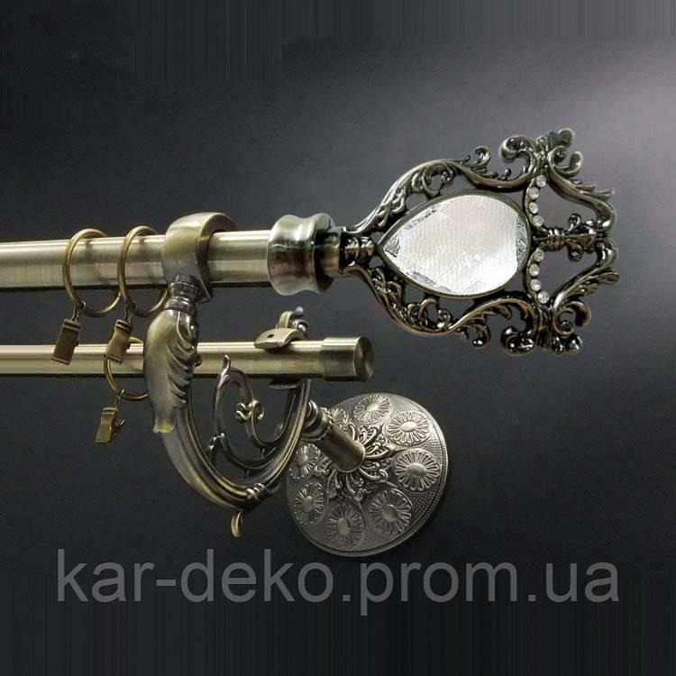 Карниз металевий дворядний дракон 8