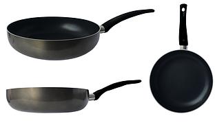Сковорода GUSTO с антипригарным покрытием Xylan 22см круглая без крышки
