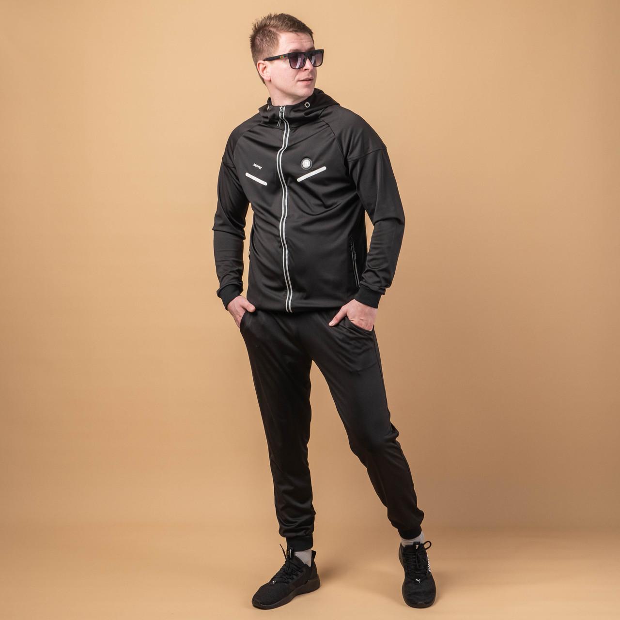 Спортивный костюм мужской  модный  M-XXXL  черный