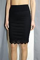 Женская юбка - карандаш в черном цвете