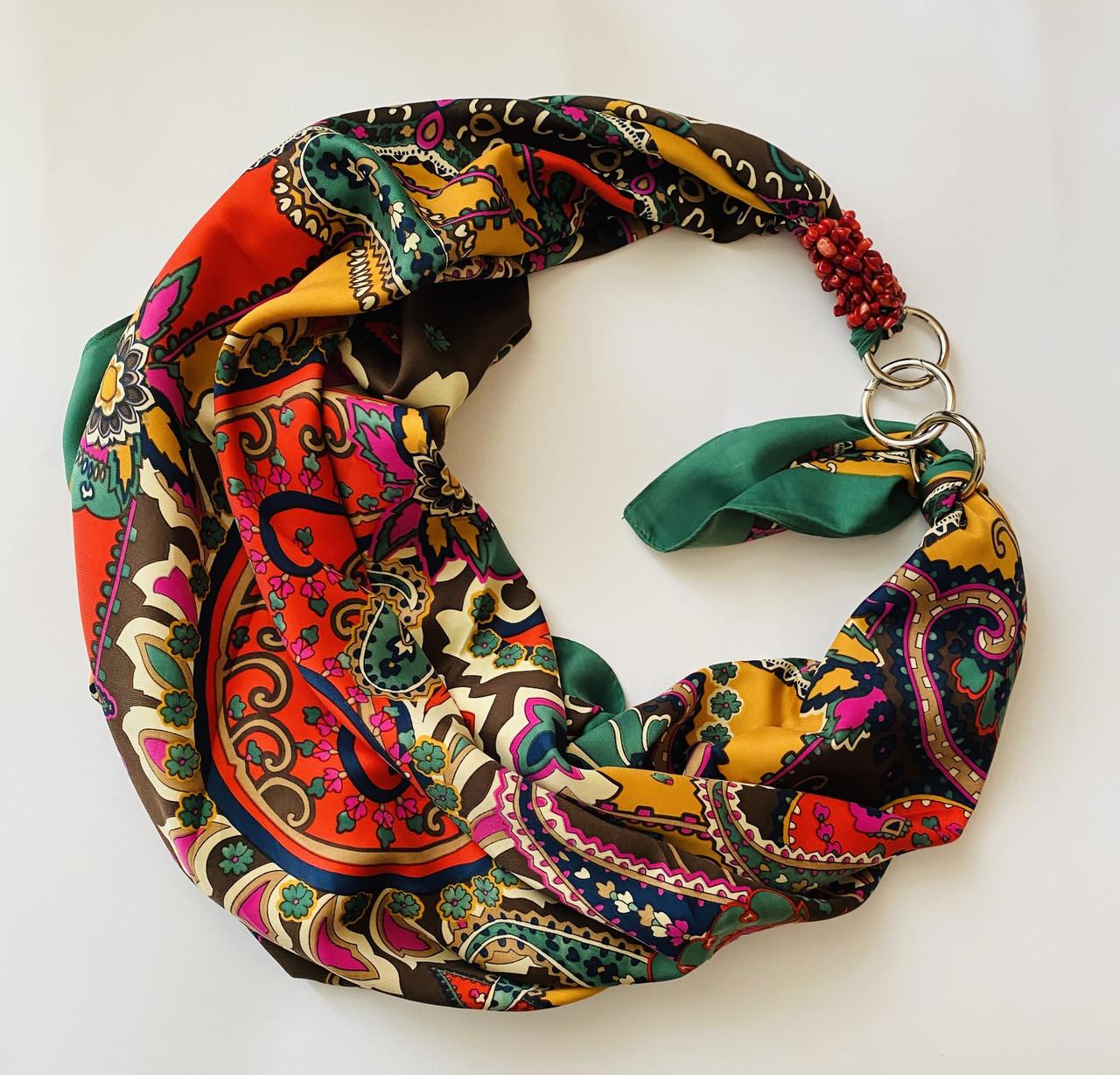 """""""ЭТНО"""" дизайнерский платок, шарф-колье, шарф-чокер, шейный платок"""