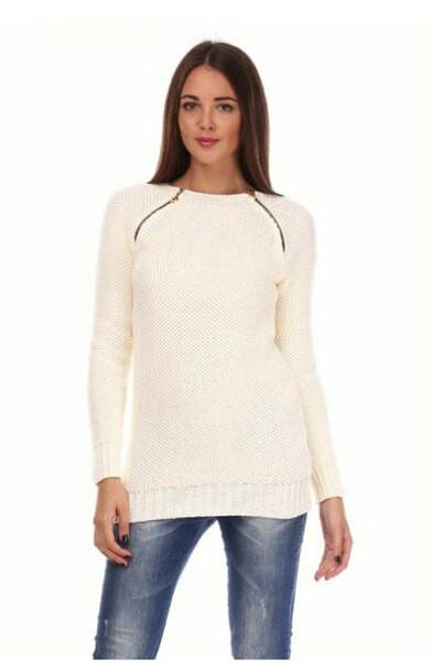 Женский свитер с молнией, 44-48