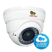 2МП купольна варифокальная IP відеокамера Partizan IPD-VF2MP-IR SE v2.0 Cloud