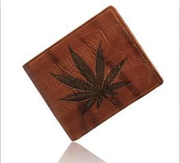 Оригинальный мужской кожаный кошелек. Модель 04195