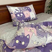 Постельное белье комплект Лиловые котята ТМ Прованс