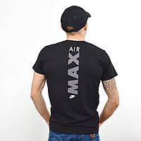 Мужская футболка с накаткой Nike (реплика) на груди и спине  Черный, фото 1