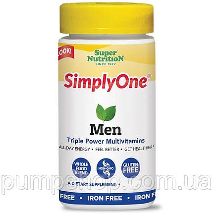 Витамины для мужчин Super Nutrition Simply One Men Triple Power Vitamins 30 таб., фото 2