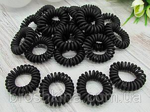 Гумки пружинки Ø3.5 см матові 50 шт/уп. чорні