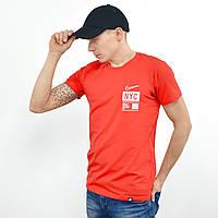 Мужская футболка с накаткой Nike (реплика)  Красный