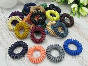 Гумки пружинки Ø3.5 см матові 50 шт/уп. кольорові