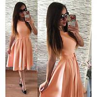 Летнее вечернее платье персик. Легкое летнее персиковое платье с пышной юбкой. Весеннее легкое платье персик!