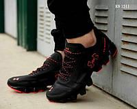 Мужские кроссовки Under Armour Scorpio (черно-оранжевые) беговая повседневная обувь KS 1511