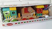 Деревянный Поезд, Деревянный паровоз, развивающая игрушка, деревянная игрушка С 39269