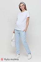 Летние голубые брюки из штапеля для беременных Biom TR-21.033 Юла мама