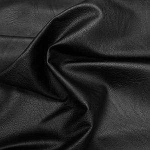 Ткань искусственная стрейч кожа черная фактурная