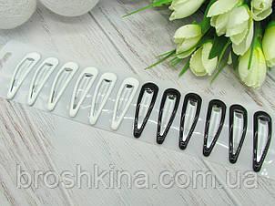 Шпильки для волосся тік-так 5 см метал/силікон 12 шт/уп.