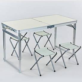 Складной стол + 4 стула 60х120см 8188