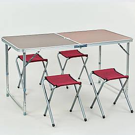 Стол складной для пикника (стол+4стула) 60х120см 8278