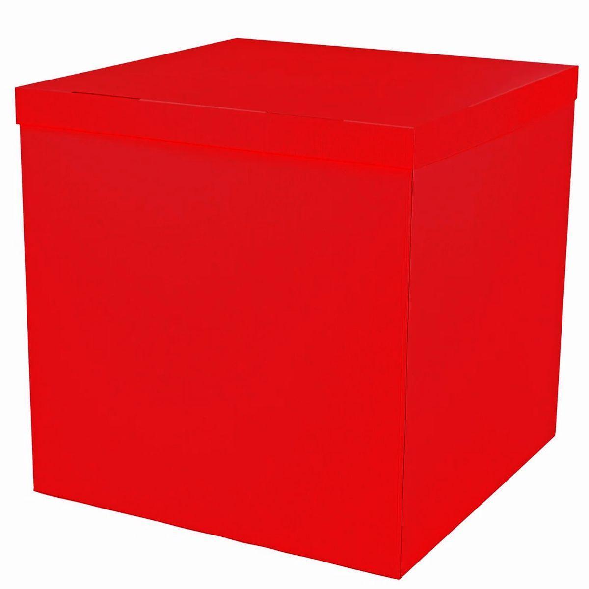Коробка-сюрприз 70х70х70см красная