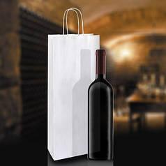 Білий крафт-пакет з витими ручками (150х90х360)/ 1шт