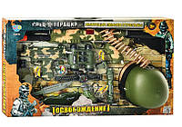 Набор военный (автомат, звук, свет, каска, фляга, бинокль, на бат-ке) в кор-ке 72-41-12 см, арт. 33470 HN