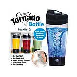 Спортивний міні-міксер, шейкер Elite 450 мл Tornado Bottle (Торнадо ботл), фото 2