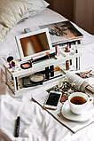 Органайзер для косметики деревяний Білий, фото 8