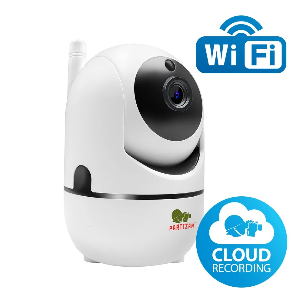 2МП хмарна Wi-Fi відеокамера Partizan Cloud robot FullHD (IPH-2SP-IR v1.0)