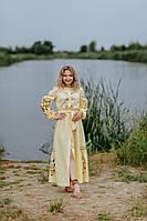 Льняное платье-вышиванка, арт. 4548