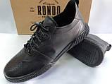 Стильные комфортные кожаные кеды,слипоны Rondo, фото 6