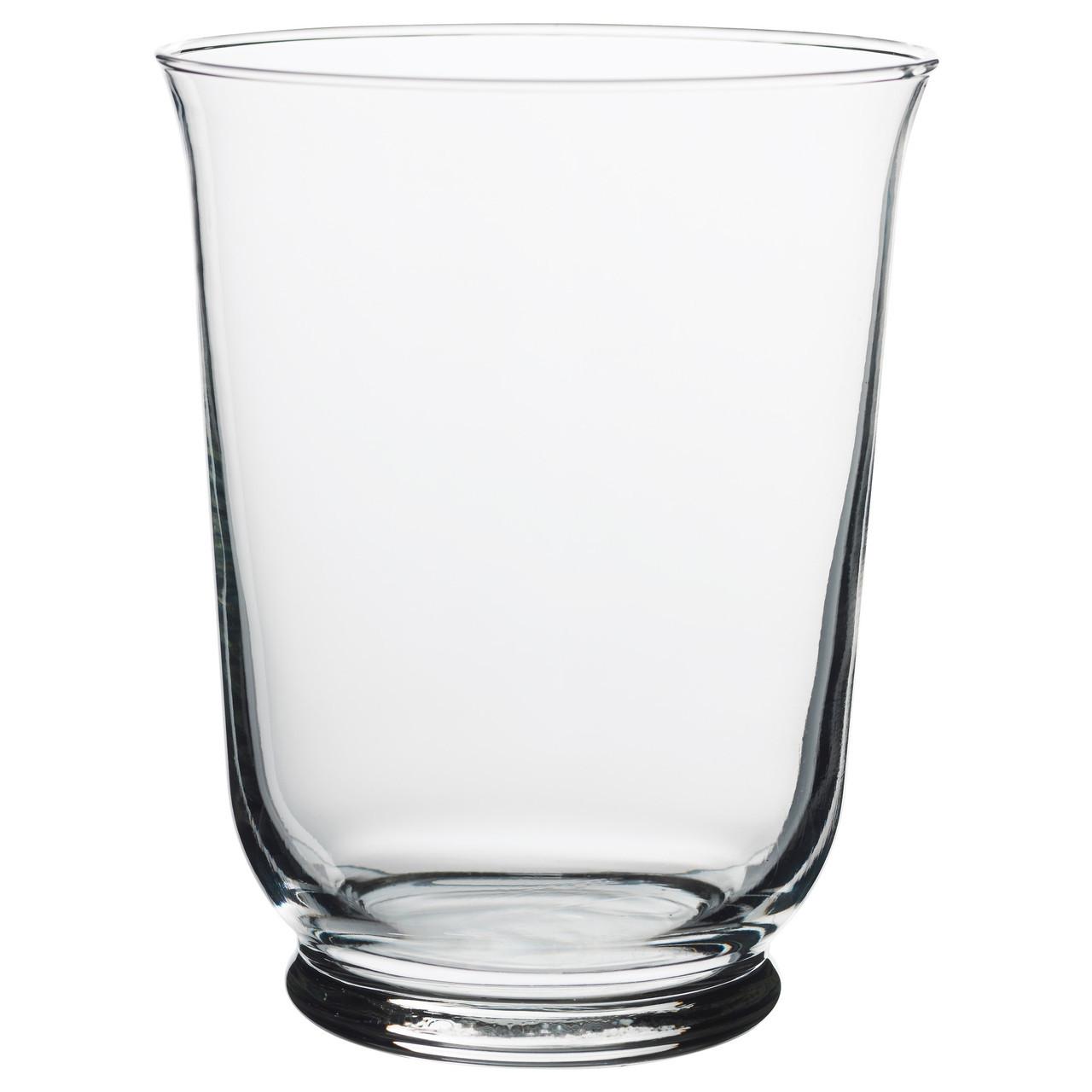 Ваза IKEA POMP 18 см прозрачное стекло 803.265.37