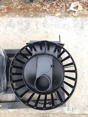 Печь для бани и сауны Бочка 15 м³ с выносом и стеклом 305х305 мм, фото 2