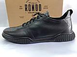 Стильные комфортные кожаные кеды,слипоны Rondo, фото 2