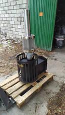 Печь для бани и сауны Бочка 15 м³ с выносом и стеклом 305х305 мм, фото 3