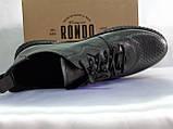 Стильные комфортные кожаные кеды,слипоны Rondo, фото 8