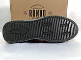 Стильные комфортные кожаные кеды,слипоны Rondo, фото 9