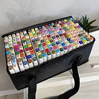 Скетч маркери двосторонні для малювання і скетчинга на спиртовій основі наборТоисһ Cool 204 шт в сумці