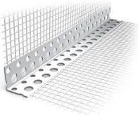 Уголок ПВХ перфорированный с сеткой 2,5м (10х10см)*