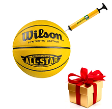 Якісний баскетбольний м'яч Wilson розмір 7 насос в подарунок