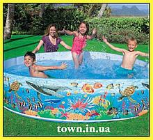 Каркасний басейн наливна дитячий круглий Intex 244*46 58472 для дому і дачі для малюків