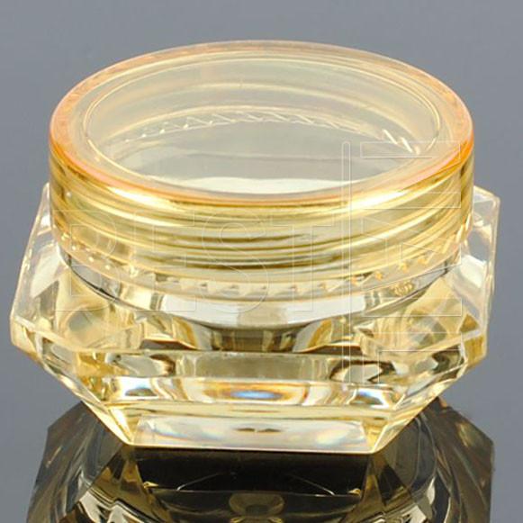 Баночка-закрутка алмаз (жовта), 5 мл