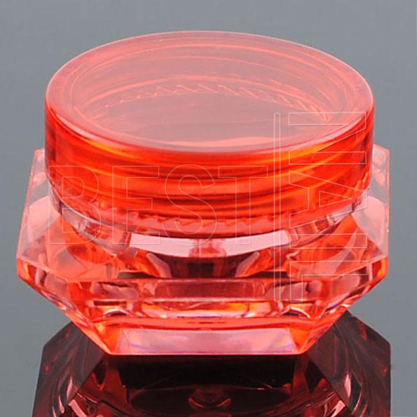 Баночка-закрутка алмаз (красная), 5 мл