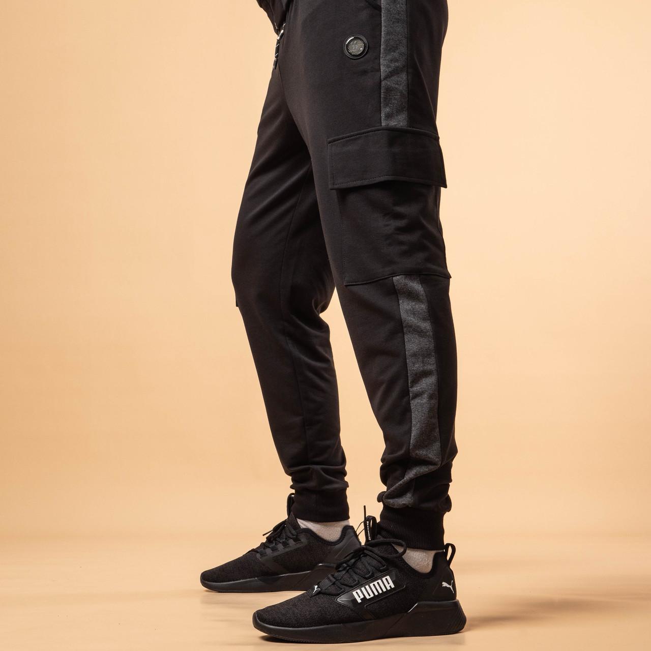 Мужские спортивные штаны джогеры S-XL черный